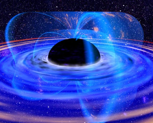 Artist's impression of a black hole. What goes on outside the black hole is well understood, but inside, we run up against the limits of fundamental physics... and potentially, the laws governing the Universe itself. Image credit: XMM-Newton, ESA, NASA.