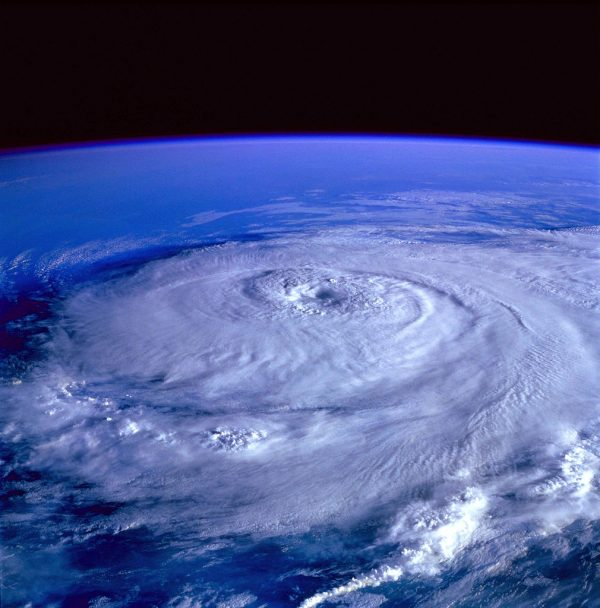 In warm-weather years, which are statistically more likely with global warming, large, more powerful hurricanes, like 1985's Hurricane Elena, are more likely, but there will be fewer of them. Image credit: Image Science and Analysis Laboratory, NASA-Johnson Space Center.