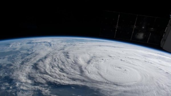 From the International Space Station on August 25, 2017, 250 miles above Earth, a NASA astronaut captured photos of Hurricane Harvey. Image credit: NASA.