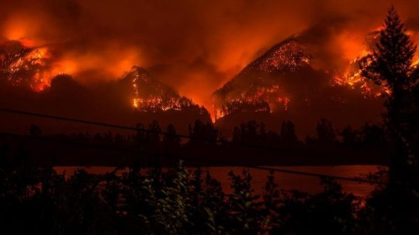The Eagle Creek fire has now spread to engulf over 10,000 acres, has caused the evacuations of thousands of families, and millions of dollars in property damage. The terrain itself will take decades to recover. Image credit: Tristan Fortsch/KATU-TV via AP.