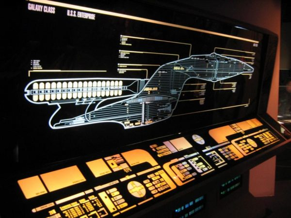 The warp drive system on the Star Trek starships was what made travel from star to star possible. Image credit: Alistair McMillan / c.c.-by-2.0.