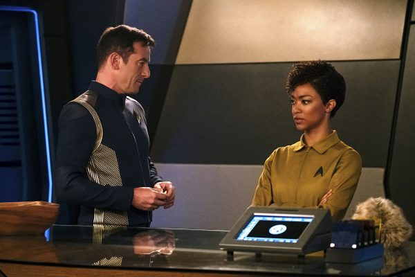 Michael Burnham, initially brought over as a prisoner, finds herself aboard the USS Discovery, captained by the intriguing but sketchy Gabriel Lorca. Image credit: Jan Thijs/CBS © 2017 CBS Interactive.